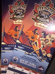 Heritage Classic!!  Great Seats!!