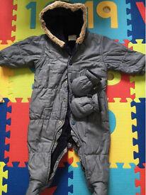 Next baby snowsuit size 6-9 months