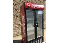 Double door display fridge
