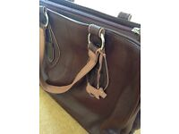 Genuine real leather Radley work bag, large with iPad/laptop & file pockets