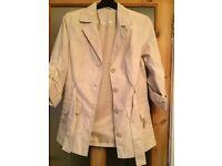 Cream jacket by Klass size 10 New!
