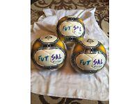 3x new futsal football (size 4)