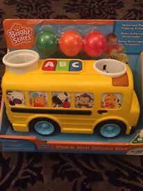 Bright Stars Pop and Roll School Bus