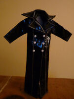 Vintage BARBIE Fashion Doll 60's LONG BLACK RAINCOAT