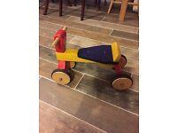Child's wooden bike