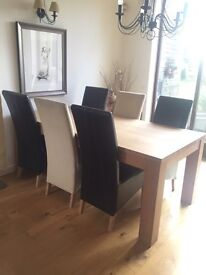 Dining Table & 8 Chairs - Contemporary Barker & Stonehouse