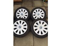 Bmw 3 series 2010 16 inch steel wheels with 205 55 16 winter tyres