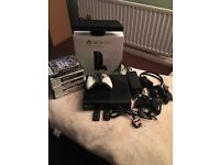 Xbox 360 E (new shape) 250GB Boxed with kinnect & Games & Extras