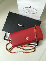 NEW Prada wallet on a chain in red