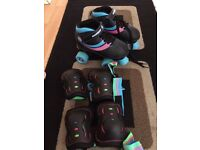 Roller skates size 13 with pads