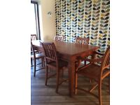 Handmade Mahogany Dining Room Table and 6 Chairs