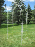 Wrought Iron Arch and 2 Candle Stands  $250 purchase price obo