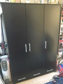Black large wardrobe