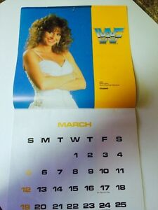 RARE 1989 WWF CALENDAR RANDAY SAVAGE ELIZABETH COVER London Ontario image 4