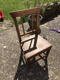 Antique Welsh wooden chair