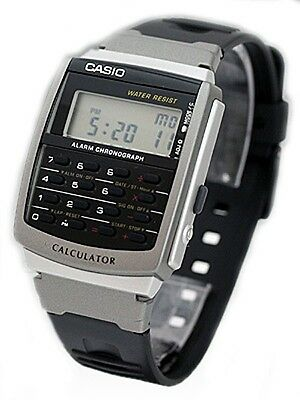 Casio Ca56 1 Mens Classic Resin Band 8 Digit Chronograph Alarm Calculator Watch