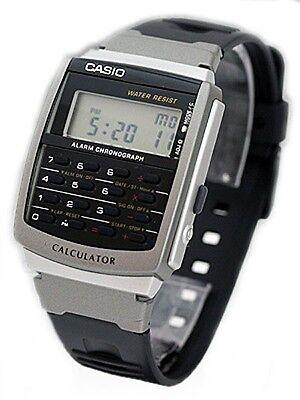 Casio CA56-1 Men's Classic Resin Band 8 Digit Chronograph Alarm Calculator Watch