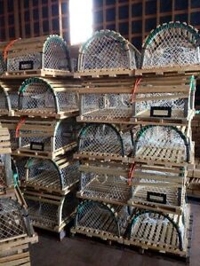 New western PEI wooden lobster traps