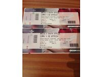 X2 tickets for Wales and South Africa