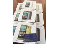 Brand new unlocked sim free HTC One M8 sealed box with full new accessories in stock