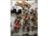 Job lot of women's shoes size 5
