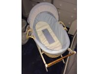 Moses basket & stand mothercare
