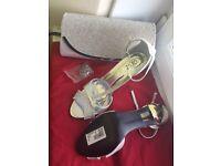 Crystal handbag and women shoes size 7