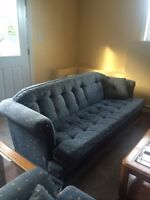 Couch, loveseat, and swivel rocker