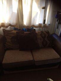 Sofa, Music cuddle sofa and a storage pouffe