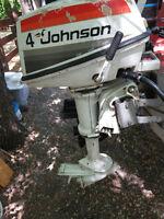 1977 JOHNSON SEA HORSE 4 HP OUTBOARD MOTOR WATER SPORT