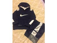Nike hoody and shorts worn once age1-2