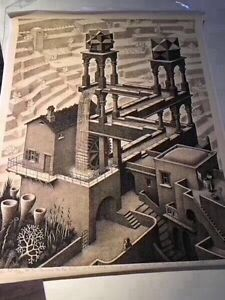Waterfall by MC Escher (Canvas print )  RRP$60 Mornington Clarence Area Preview