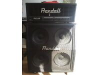 Guitar amp Randall head and 4x12 cab
