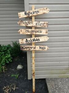 Harry Potter Wooden Halloween Sign
