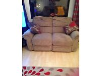 Two seater recliner settee