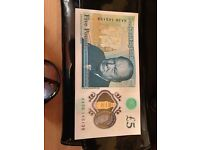 Collectors AA36 £5 note