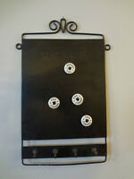 2 in one, magnet board with magnets and key rack