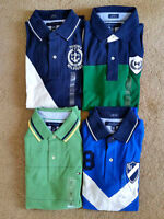 4 Brand New Authentic Tommy Hilfiger Mens Shirts - Medium Size