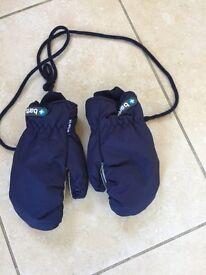 BARTS kids ski gloves - blue