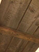 REDUCED TO SELL! Beautiful reclaimed wood barn door!