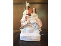 Staffordshire pottery figures x 3