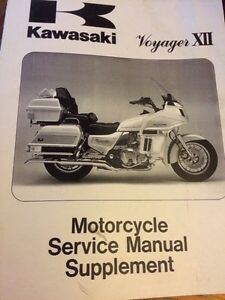 1987-1998 Kawasaki Voyager XII Service Manual Supplement