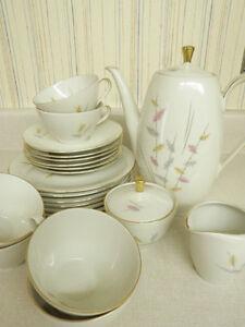 Gold Rimmed  Porcelain of Mitterteich Bavaria Dish Set