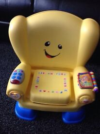 Fisher price musical learning chair as new rrp£50