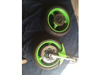 Zx9r wheels and forks