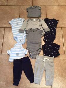 Carter's newborn lot and Gap long sleeve diaper shirt