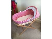 Moses basket and Stand immaculate condition