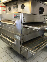 Double Stack Middleby Marshall PS360XWB Conveyor Pizza Ovens