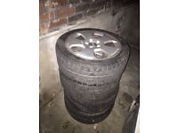 AUDI A3 8P SPARE ALLOY WHEEL RIMS AND TYRES 225/45R17