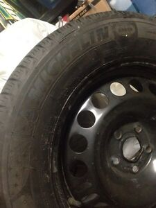 Michelin X-Ice 3 winter tires with rims Kitchener / Waterloo Kitchener Area image 4